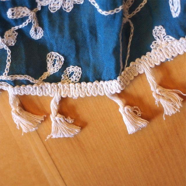 画像3: 刺繍ショール タッセル付