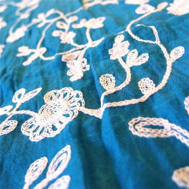 画像5: 刺繍ショール タッセル付