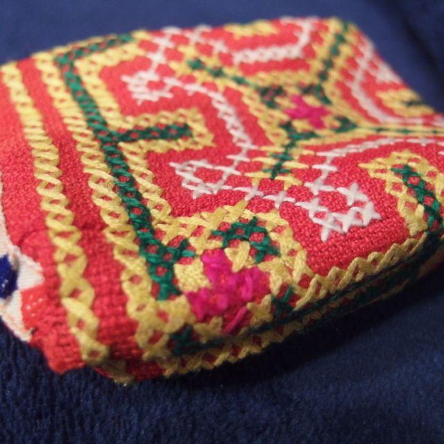 画像2: モン族刺繍ミニポーチ