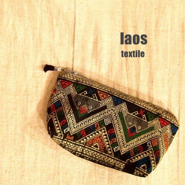 画像1: ラオス織物ポーチ
