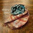 画像1: ペイズリー柄織りショール (1)
