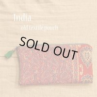 India old textile ポーチ