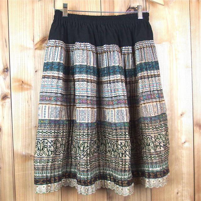 画像1: モン族 スカート