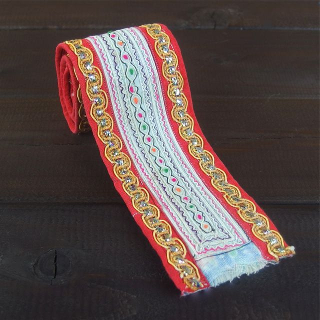 画像1: モン族刺繍古布