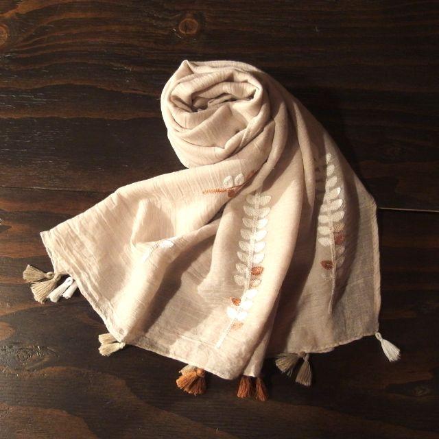 画像3: 刺繍ショール