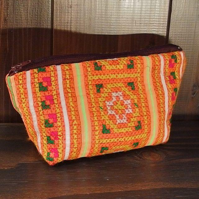 画像1: モン族刺繍ポーチ