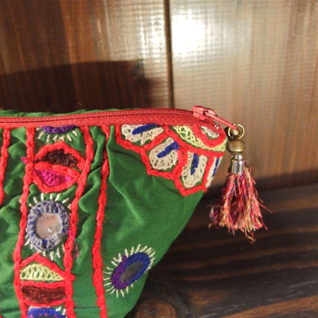 画像2: パキスタン刺繍ポーチ