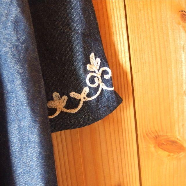 画像4: 刺繍デニムワンピース