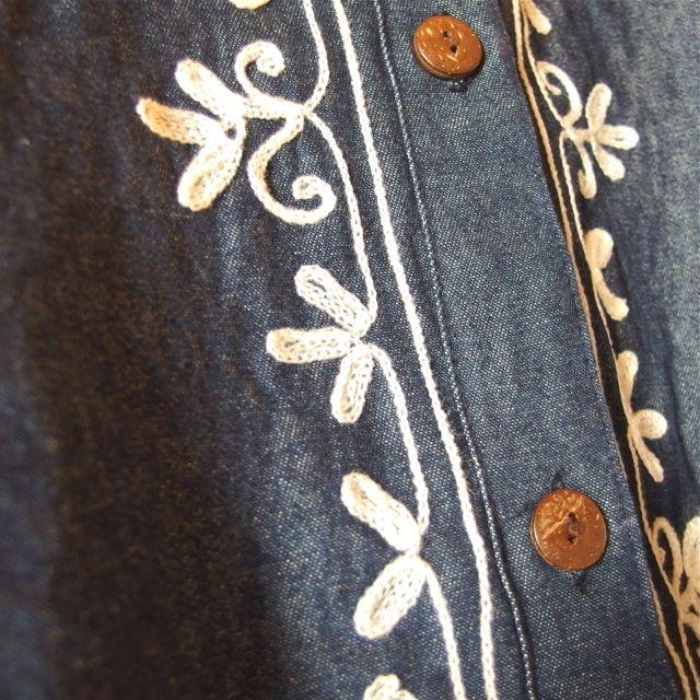 画像3: 刺繍デニムワンピース